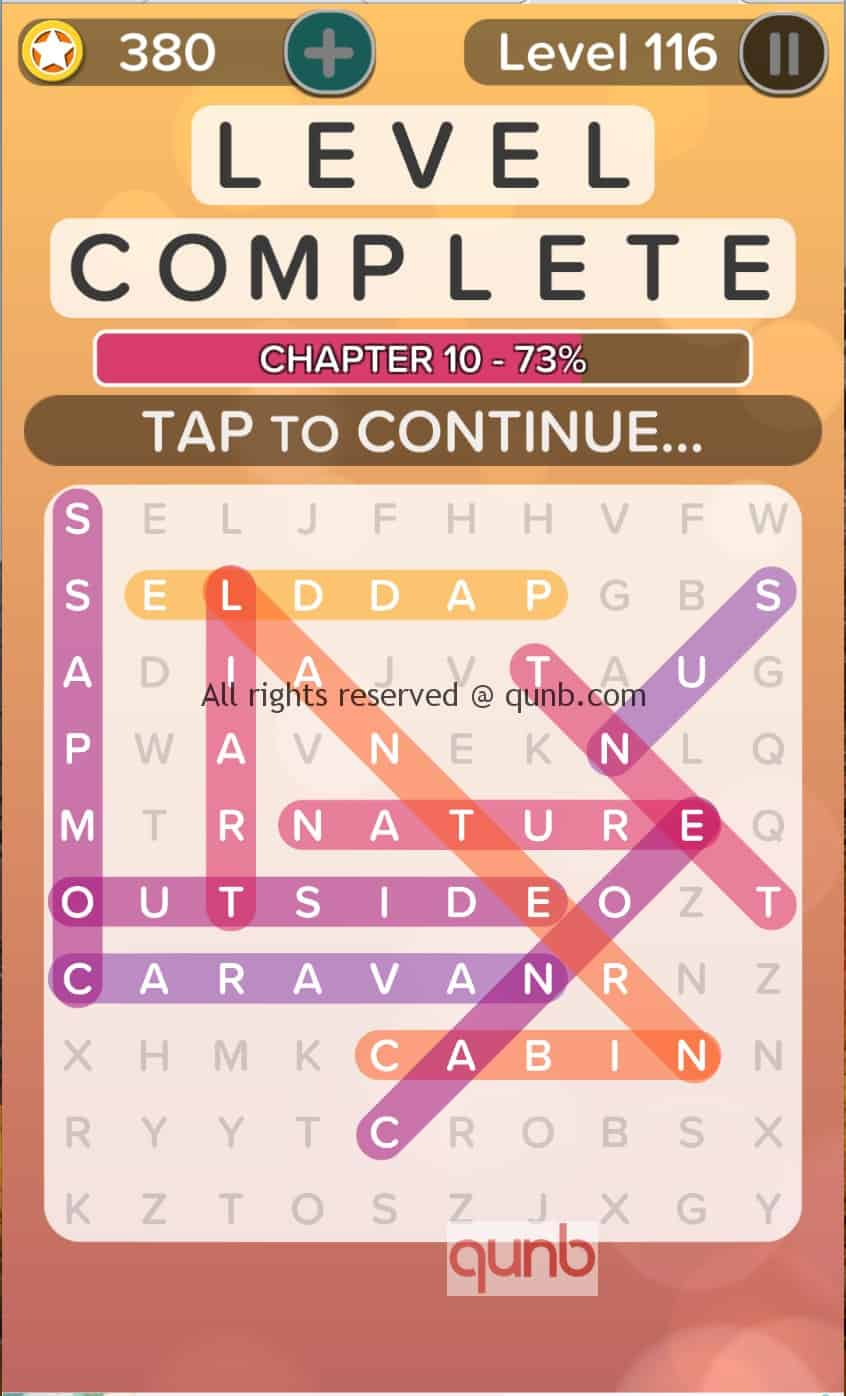 Word Search Addict Answers Level 116 Qunb