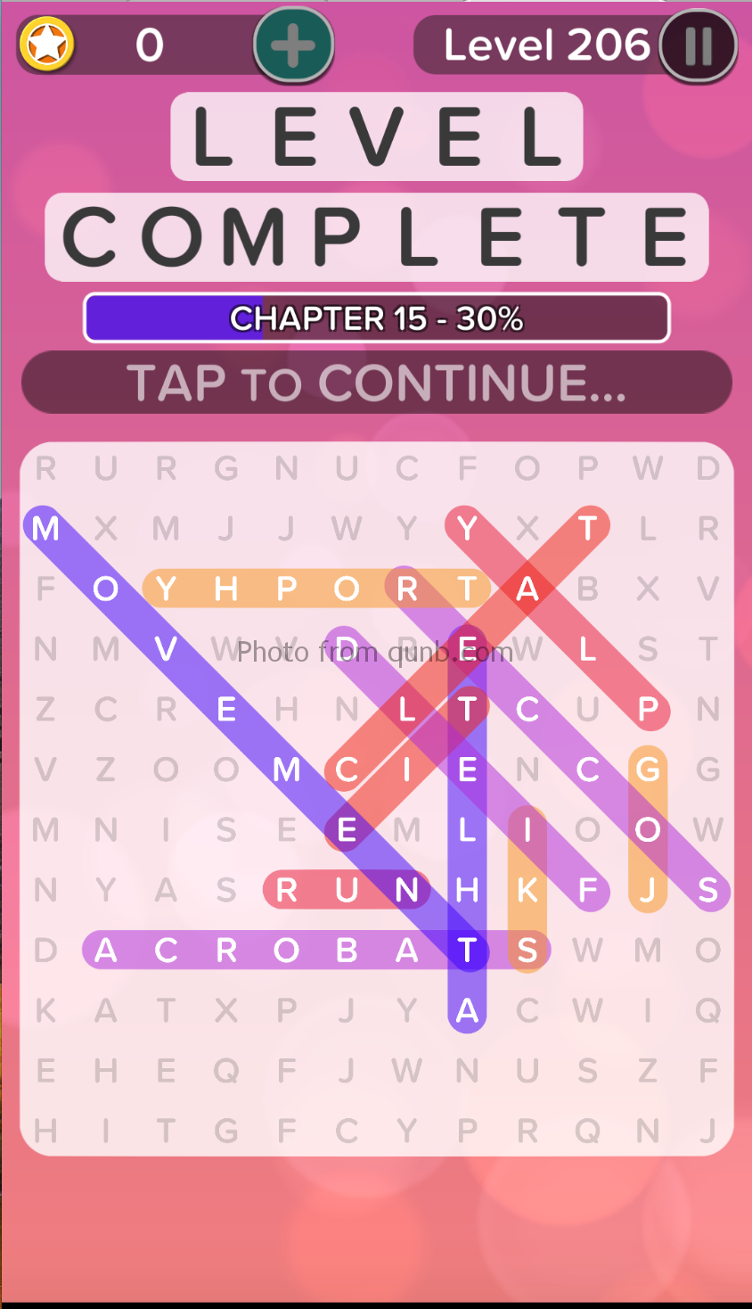 Word Search Addict Answers Level 206 » Qunb