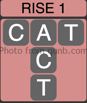 Wordscapes Rise 1 (Level 1) Answer and Cheat