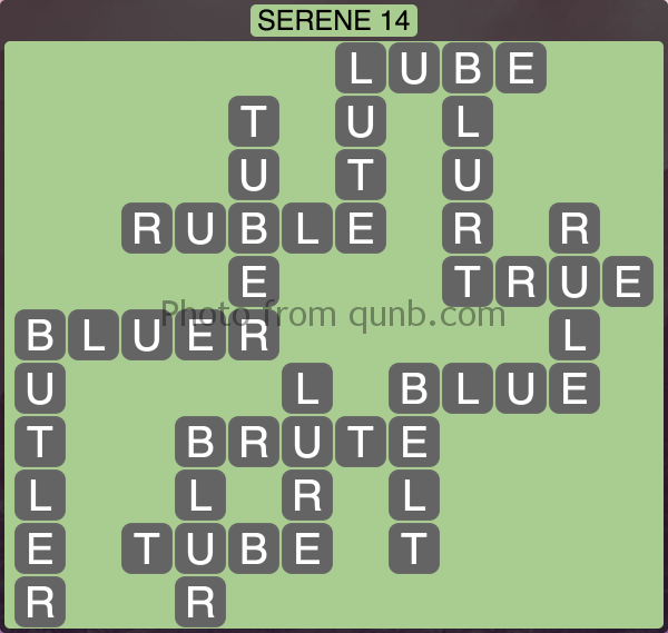 Wordscapes Serene 14 (Level 1006) Answers