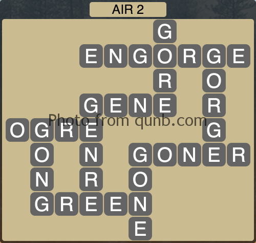 Wordscapes Air 2 (Level 1010) Answers
