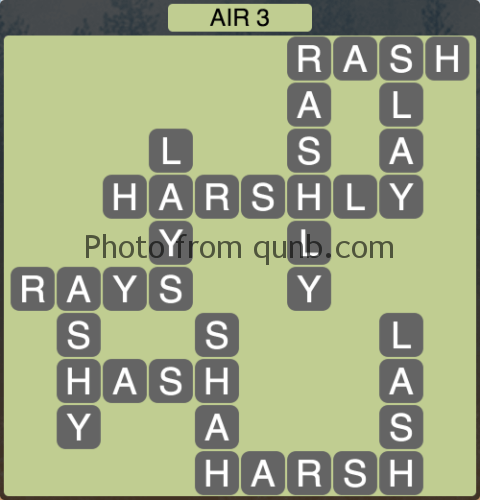 Wordscapes Air 3 (Level 1011) Answers