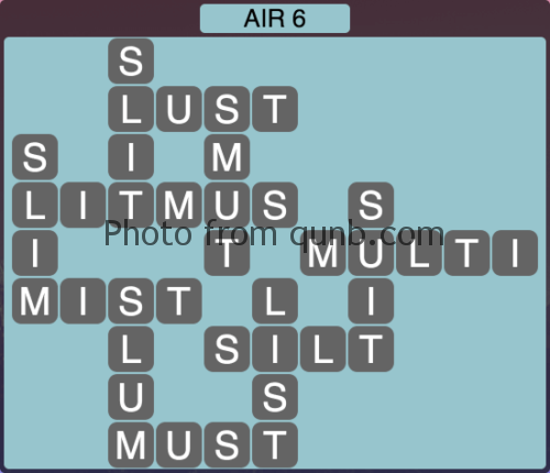 Wordscapes Air 6 (Level 1014) Answers