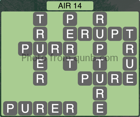 Wordscapes Air 14 (Level 1022) Answers