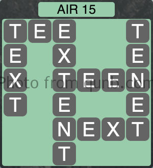 Wordscapes Air 15 (Level 1023) Answers
