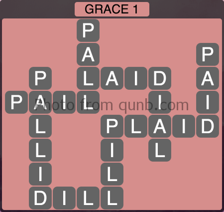 Wordscapes Grace 1 (Level 1025) Answers