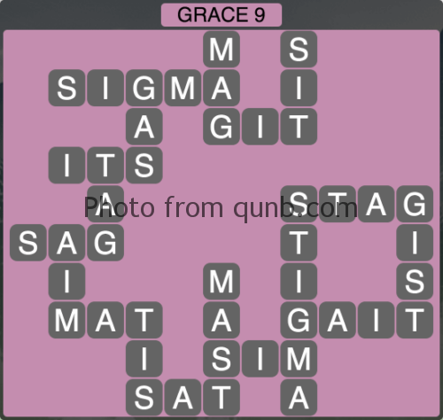 Wordscapes Grace 9 (Level 1033) Answers