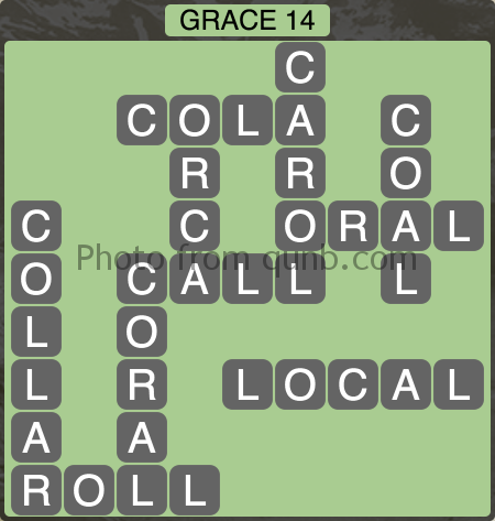 Wordscapes Grace 14 (Level 1038) Answers