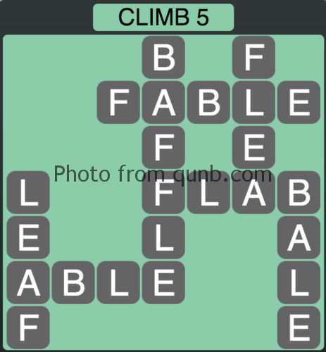 Wordscapes Climb 5 (Level 1045) Answers