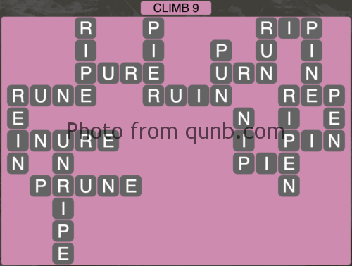 Wordscapes Climb 9 (Level 1049) Answers