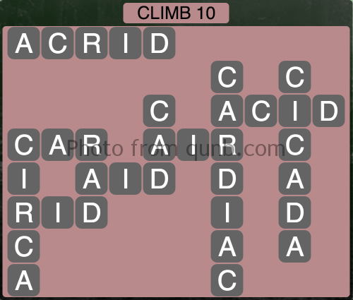 Wordscapes Climb 10 (Level 1050) Answers