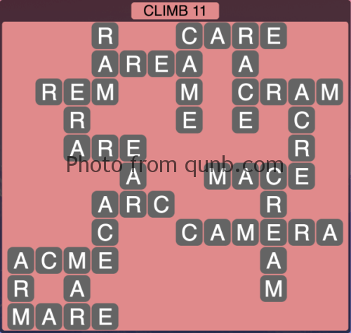 Wordscapes Climb 11 (Level 1051) Answers