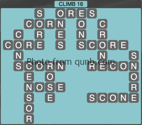 Wordscapes Climb 16 (Level 1056) Answers