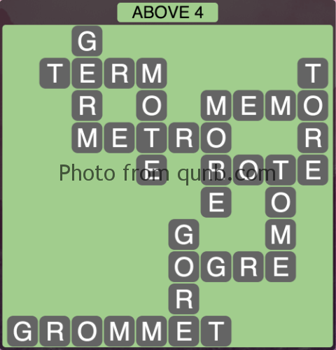 Wordscapes Above 4 (Level 1060) Answers