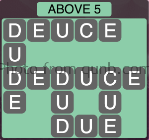 Wordscapes Above 5 (Level 1061) Answers