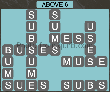 Wordscapes Above 6 (Level 1062) Answers