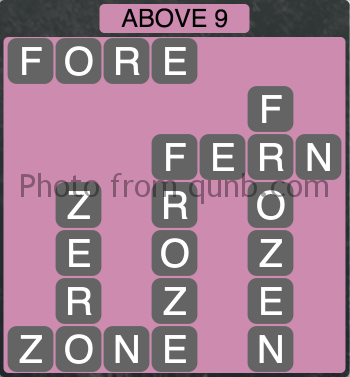 Wordscapes Above 9 (Level 1065) Answers