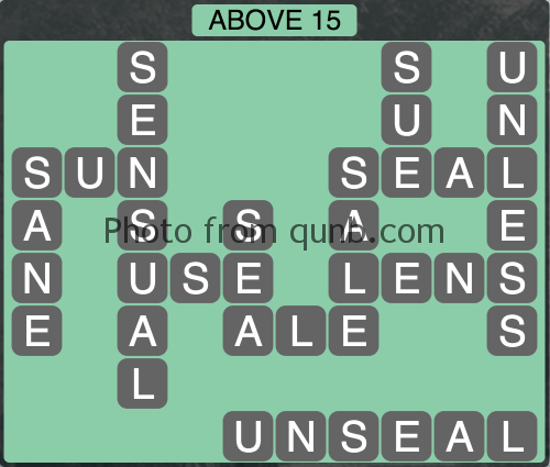 Wordscapes Above 15 (Level 1071) Answers