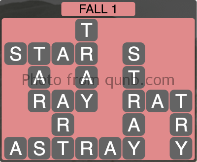 Wordscapes Fall 1 (Level 1073) Answers