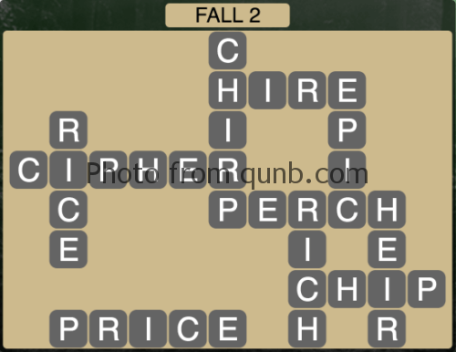 Wordscapes Fall 2 (Level 1074) Answers