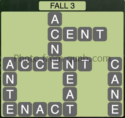 Wordscapes Fall 3 (Level 1075) Answers
