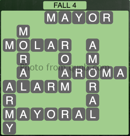 Wordscapes Fall 4 (Level 1076) Answers
