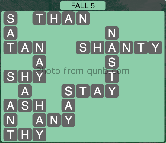 Wordscapes Fall 5 (Level 1077) Answers