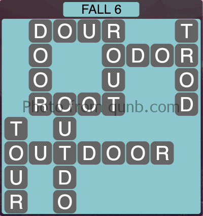 Wordscapes Fall 6 (Level 1078) Answers