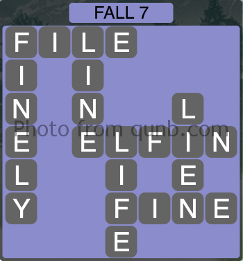 Wordscapes Fall 7 (Level 1079) Answers