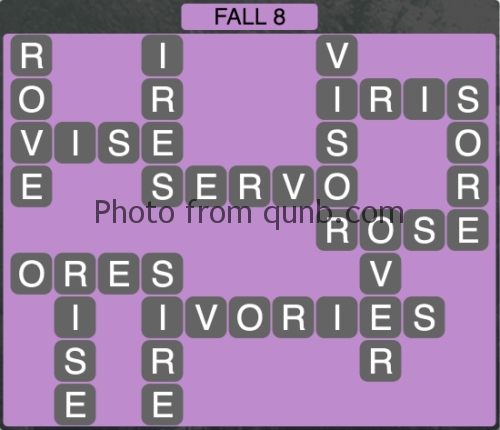 Wordscapes Fall 8 (Level 1080) Answers