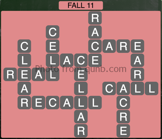 Wordscapes Fall 11 (Level 1083) Answers