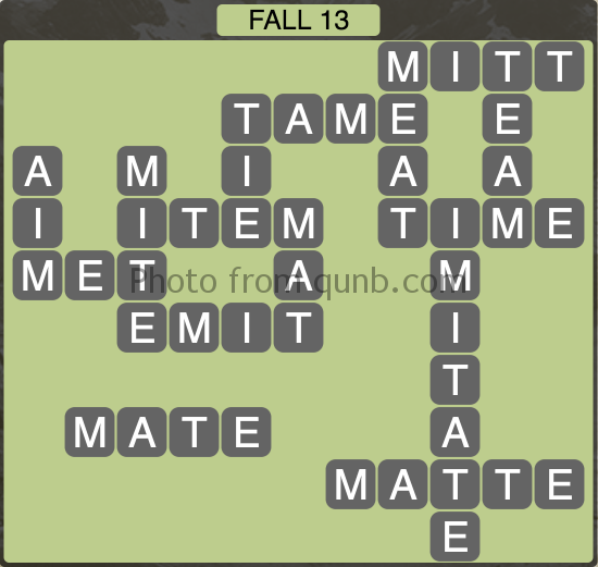 Wordscapes Fall 13 (Level 1085) Answers