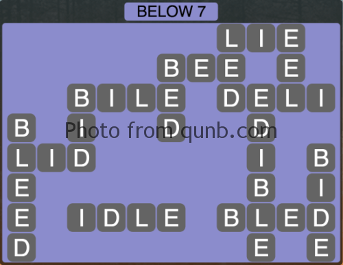 Wordscapes Below 7 (Level 1095) Answers