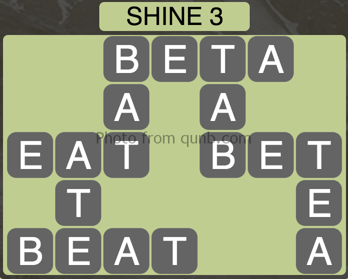 Wordscapes Shine 3 (Level 11) Answer and Cheat