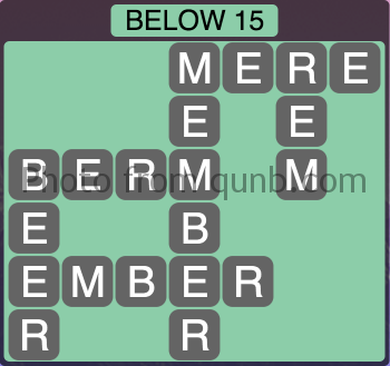Wordscapes Below 15 (Level 1103) Answers