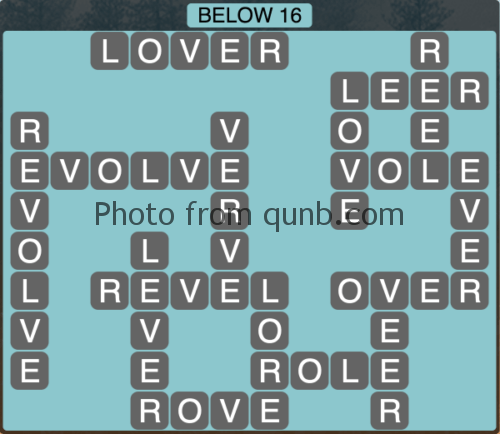 Wordscapes Below 16 (Level 1104) Answers