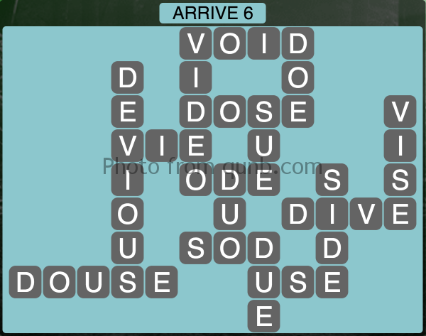 Wordscapes Arrive 6 (Level 1110) Answers