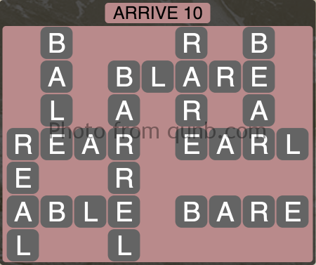 Wordscapes Arrive 10 (Level 1114) Answers