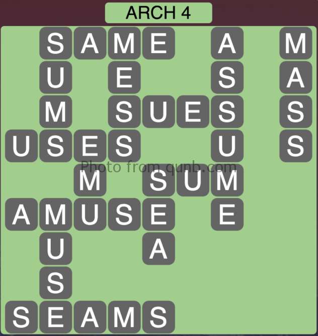 Wordscapes Level 116 Arch 4 Answer Qunb