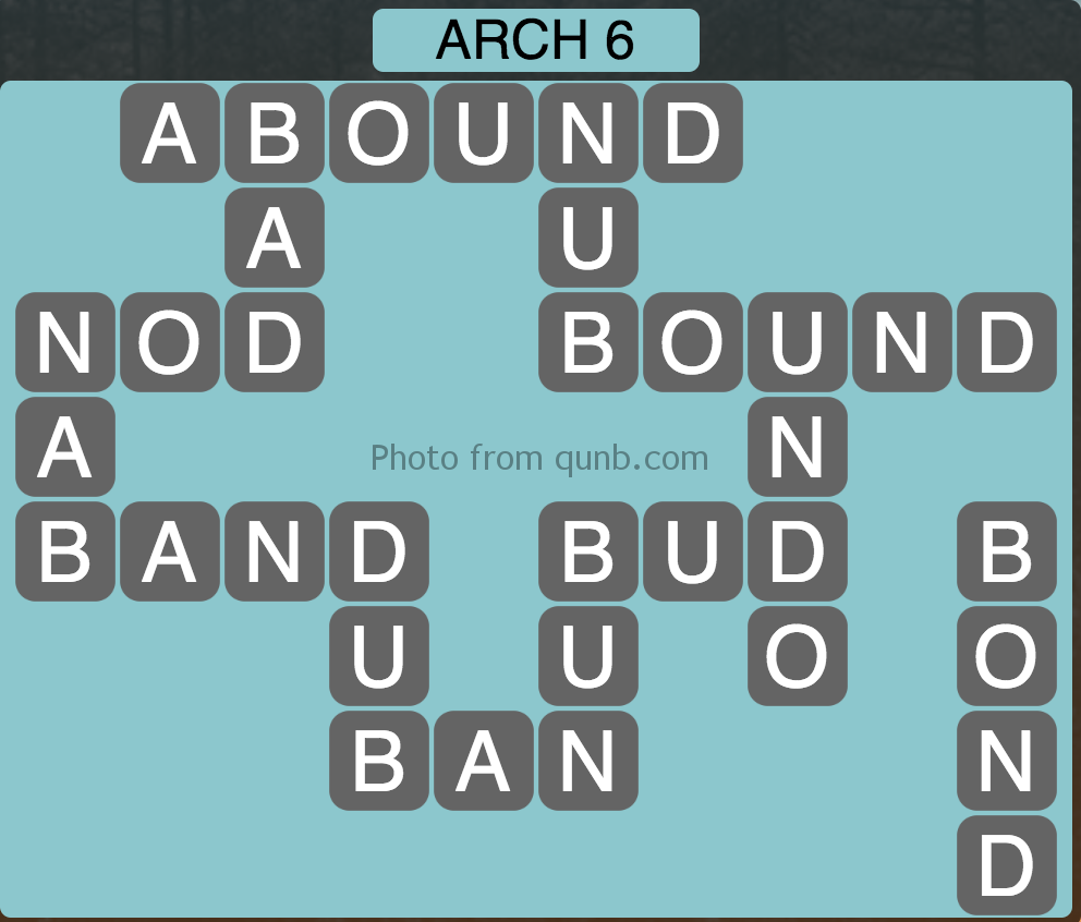 Wordscapes Level 118 (Arch 6) Answer
