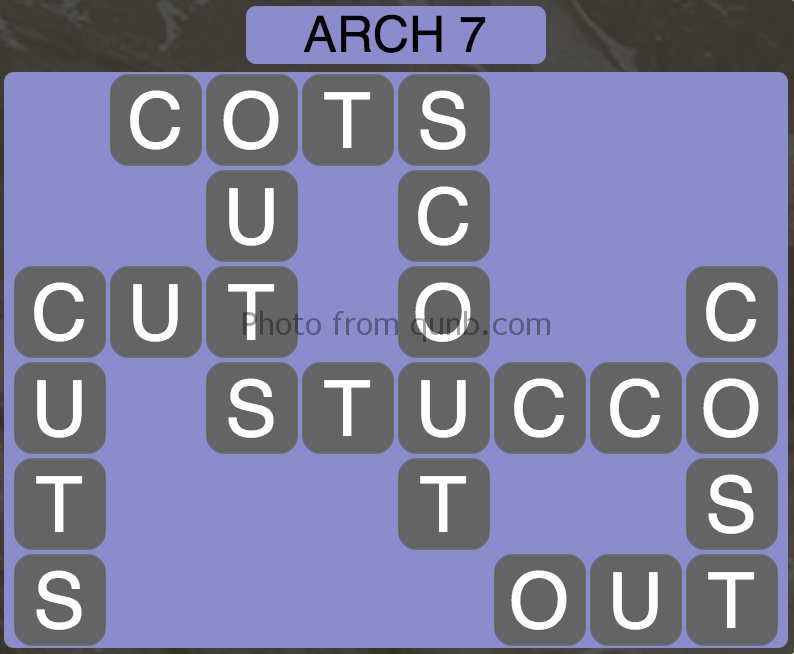 Wordscapes Level 119 (Arch 7) Answer