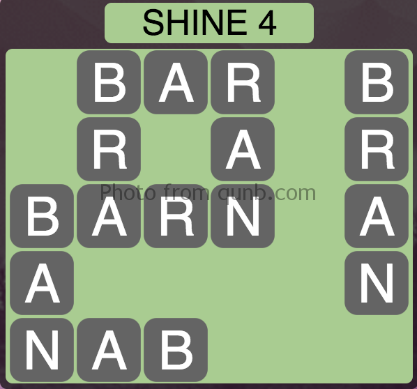 Wordscapes Shine 4 (Level 12) Answer and Cheat