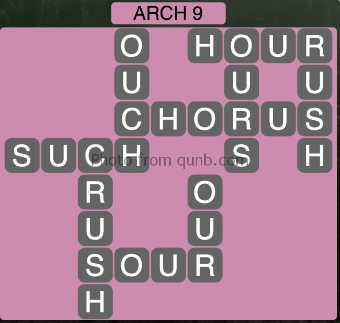 Wordscapes Level 121 (Arch 9) Answer