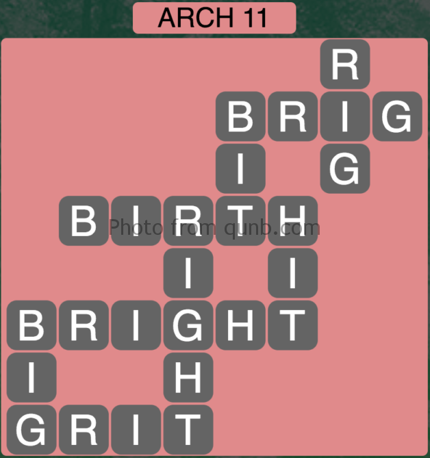 Wordscapes Level 123 (Arch 11) Answer