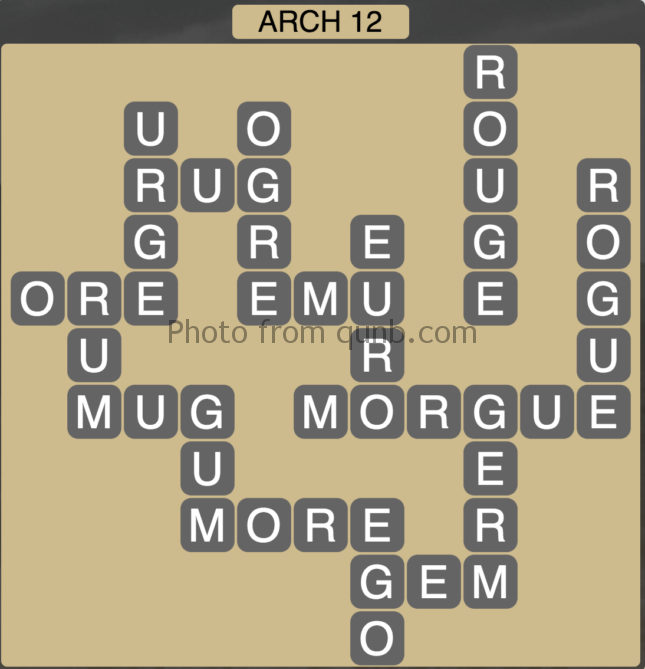 Wordscapes Level 124 (Arch 12) Answer