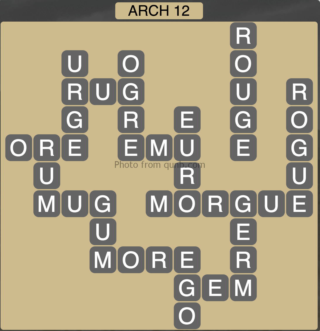 Wordscapes Level 124 Canyon Arch 12 Answer Qunb