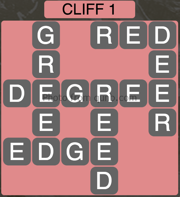 Wordscapes Level 129 (Cliff 1) Answer
