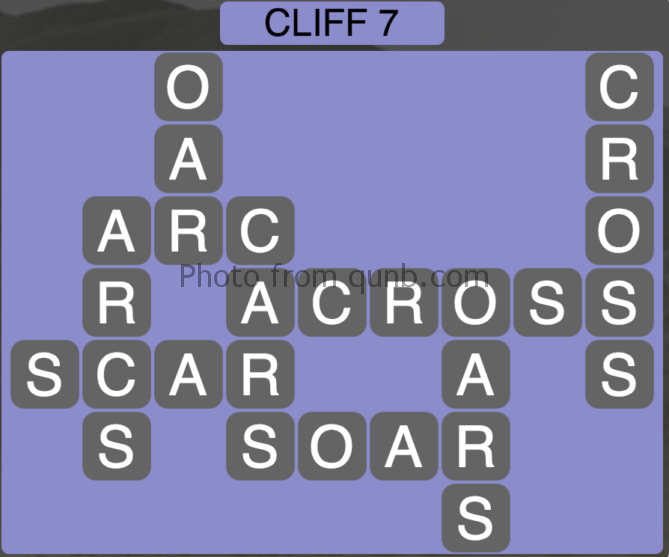 Wordscapes Level 135 (Cliff 7) Answer