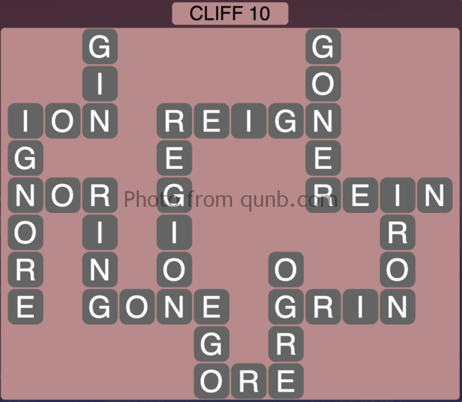 Wordscapes Level 138 (Cliff 10) Answer
