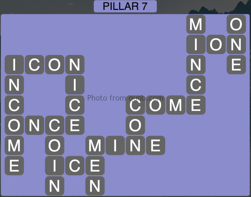 Wordscapes Level 151 (Pillar 7) Answer